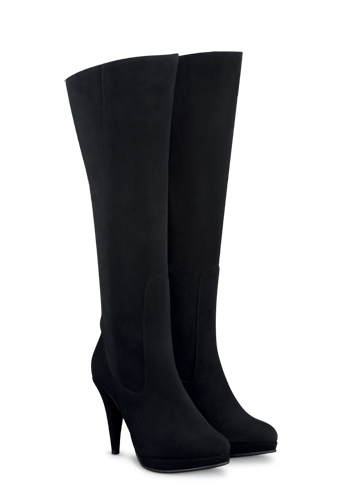 Duo – Laurel Black Suede Wide Calf Boots