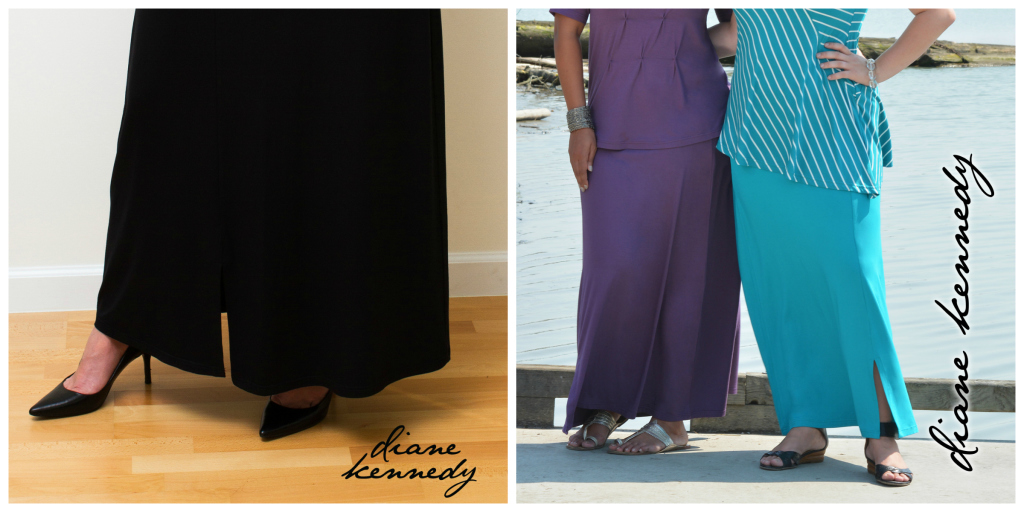 maxi skirt diane kennedy, maxi skirt worn a few ways