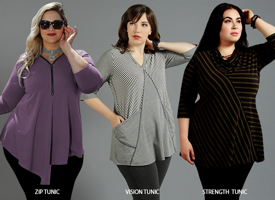 Tummy Loving Tunics The Zip Tunic, The Vision Tunic and the Strength Tunic