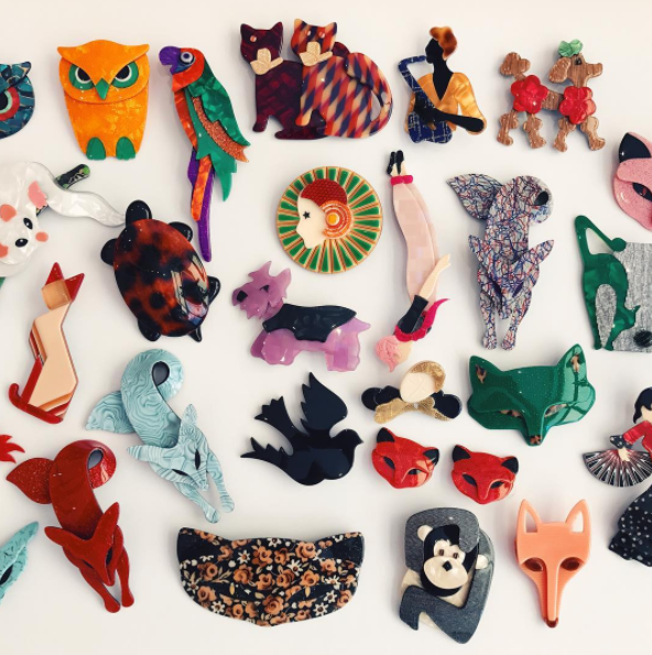 Lea Stein collectable brooches
