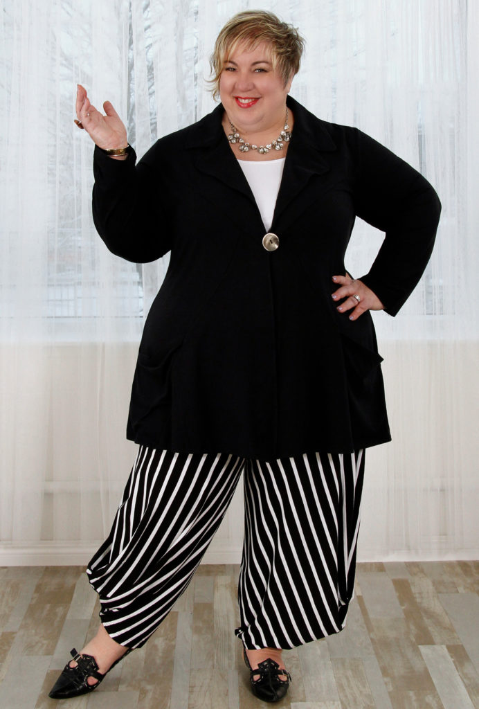 An outfit for a pear shape body, Diane Kennedy Justify Jacket and Smarty Pants
