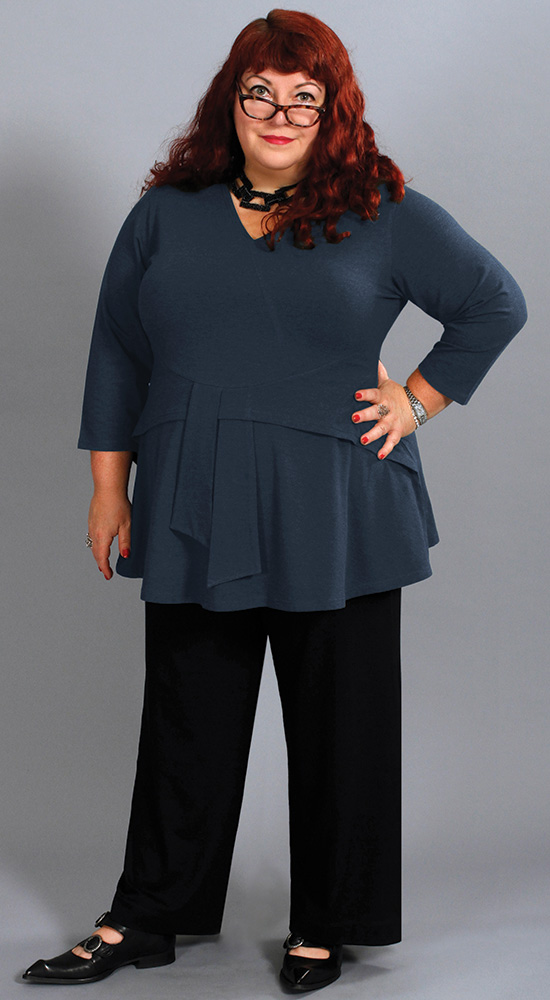 Dressing for your Apple Shape with Diane Kennedy Renew Wrap Tunic and Flex pants