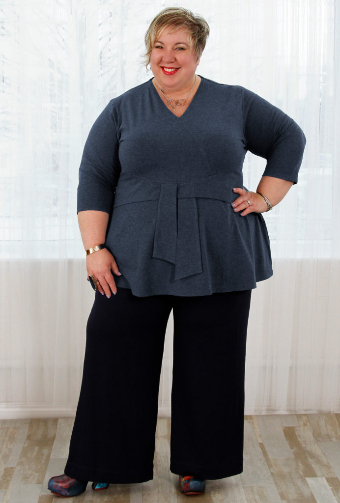 An outfit for a pear shape body, Diane Kennedy Renew Wrap Tunic and Serene Pants