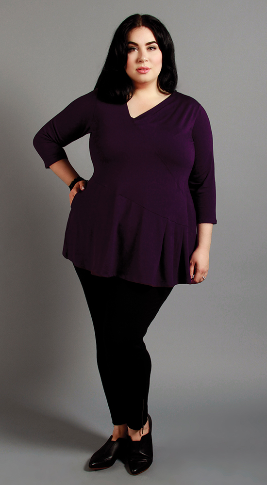 A great top for an Hourglass shape; Thurlow Tunic in Raisin