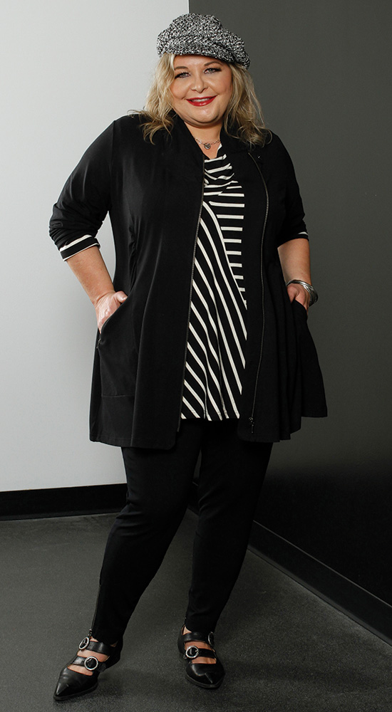 Dressing for your Apple Shape with Diane Kennedy Verve Zip and Balance Pant