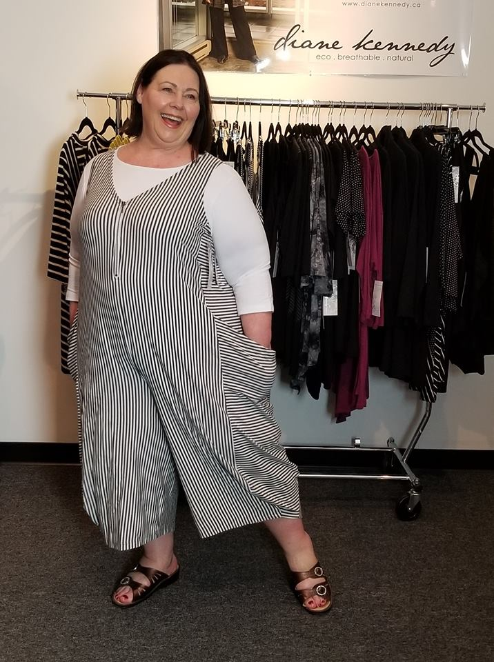 Diane Kennedy Style over 50. Ingrid wears the Screen Playsuit and Perfect Top