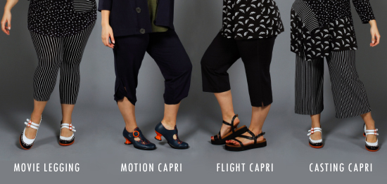 A selection of Spring Capri pants made of bamboo from Diane Kennedy clothing